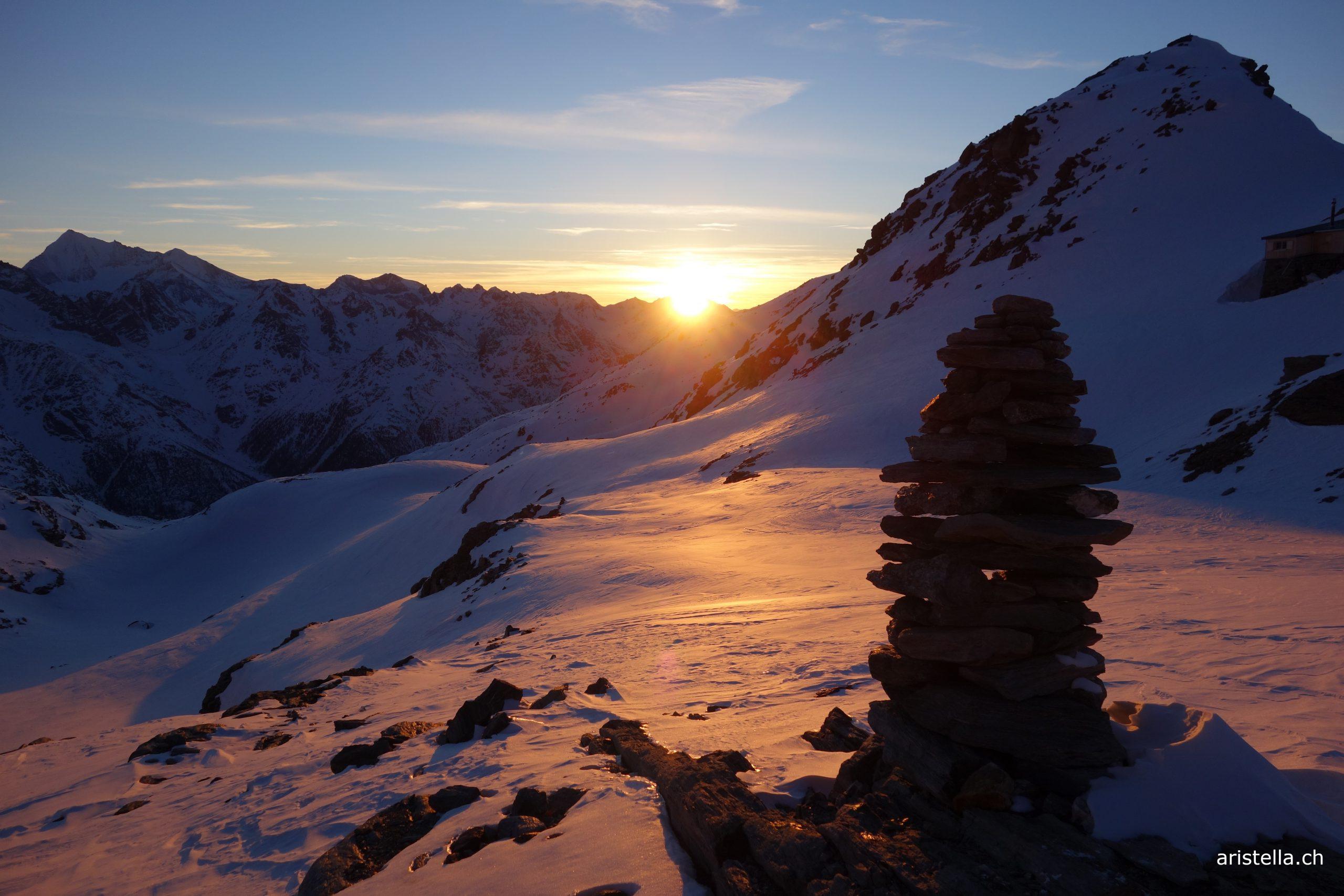 Sonnenuntergang Simelihütte